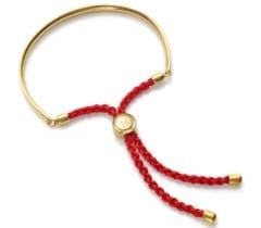 Gold Vermeil Fiji Friendship Petite Bracelet - Coral - Luck