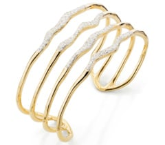 Gold Vermeil Riva Hero Wave Cuff