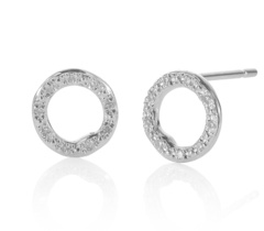 Riva Circle Stud Earrings front view