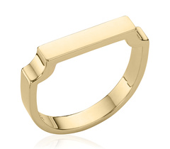 Gold Vermeil Signature Ring - Monica Vinader