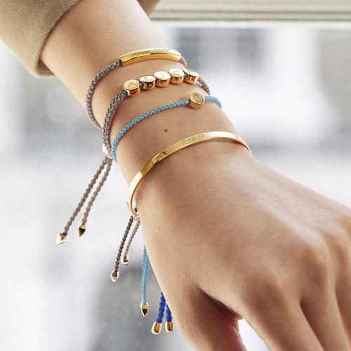 Monica Vinader 18ct Rose Gold Vermeil Fiji Friendship Bracelet RRP £135