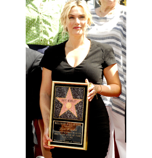 Kate Winslet wears the Full Diamond Pave Fiji Friendship Bracelet to accept her Hollywood Walk Of Fame star in Los Angeles 2014