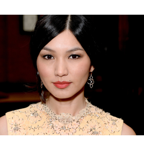 Gemma Chan stuns in our Riva Diamond Cluster Earrings and Fiji Chain Friendship Bracelets at the BAFTA TV Craft Awards in London.
