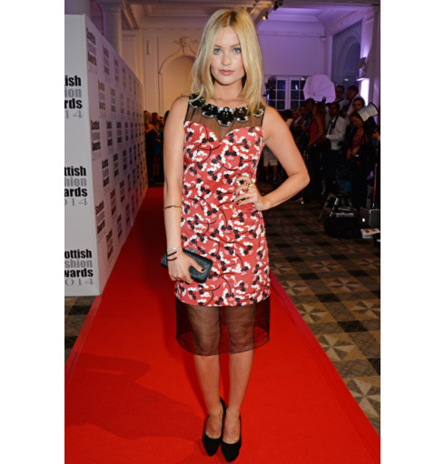 Laura Whitmore wears Monica Vinader Baja Precious and Baja Diamond collections to the 2014 Scottish Fashion Awards.