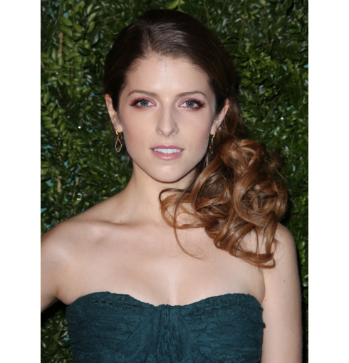 Anna Kendrick wears Monica Vinader Riva Diamond Collection and Baja Collection to the London Evening Standard Awards in London.