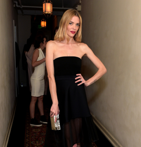 Jaime King wears Monica Vinader Ava Diamond Disc Cocktail Ring to the Warner Music Group's annual Grammy Celebration.