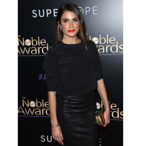 Nikki Read wears Diva Thin Cuffs in Green Aventurine and Diamond to the 3rd Annual Noble Awards in Beverly Hills, March 2015