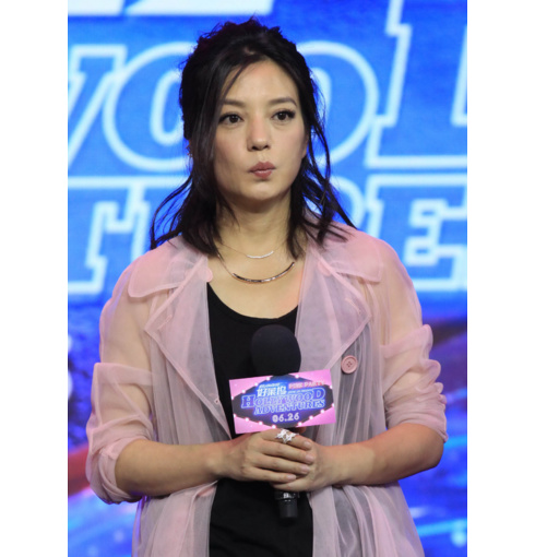 Vicki Zhao wearing Skinny and Esencia necklaces