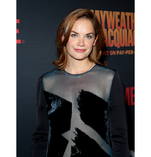Ruth Wilson wears the Esencia Long Diamond Bar Necklace to the Pre-Fight Party for 'Mayweather VS Pacquiao' in Las Vegas. Shop the collection for free delivery.