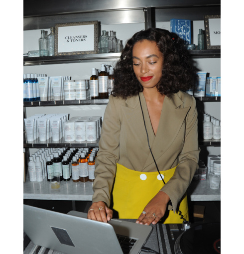 Solange Knowles wearing Riva and Ava rings and Fiji bracelet