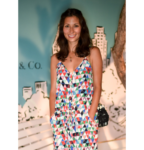 Jasmine Hemsley wears her H Alphabet Pendant to the Tiffany and Co 57th Exhibition Launch in London | Monica Vinader