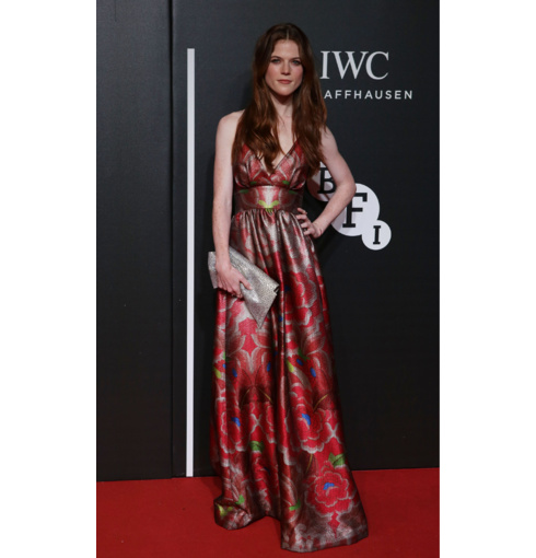 Rose Leslie wears Diva collection to the BFI Gala event